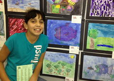 Halima with Her Art