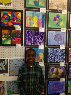 Tawaun with His Art